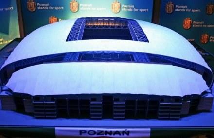 Tak prezentować się będzie stadion w Poznaniu na Euro 2012 /AFP