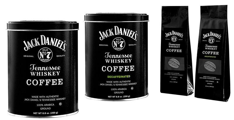 Tak prezentują się opakowania kawy o smaku whiskey /jackdanielscoffee.com /Internet