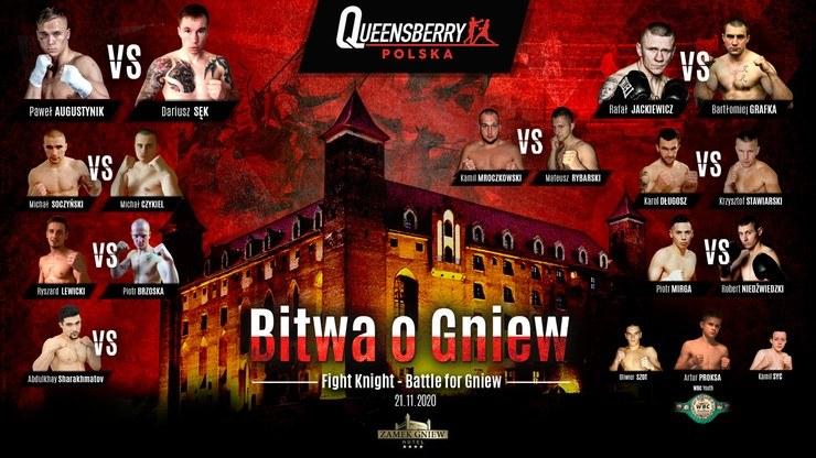 Tak prezentuje się karta walk Bitwy o Gniew /Polsat Sport