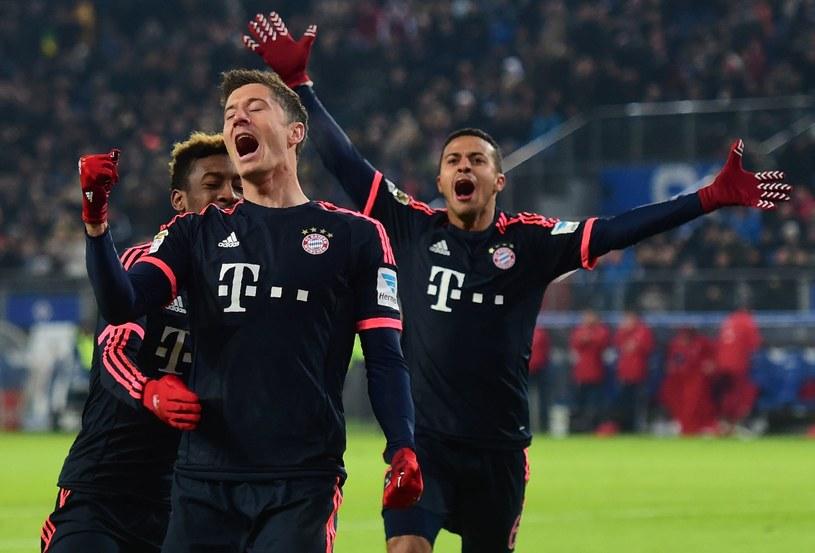 Tak Robert Lewandowski cieszył się po jednej z bramek przeciwko HSV /AFP