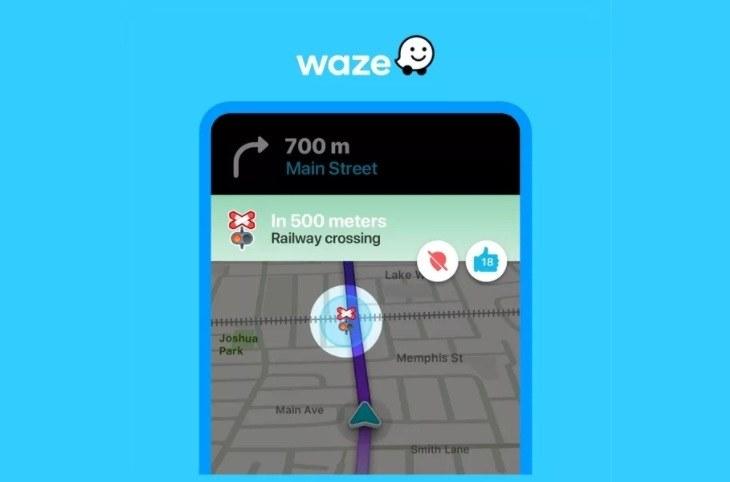 Tak są oznaczone przejazdy kolejowe w aplikacji Waze /materiały prasowe