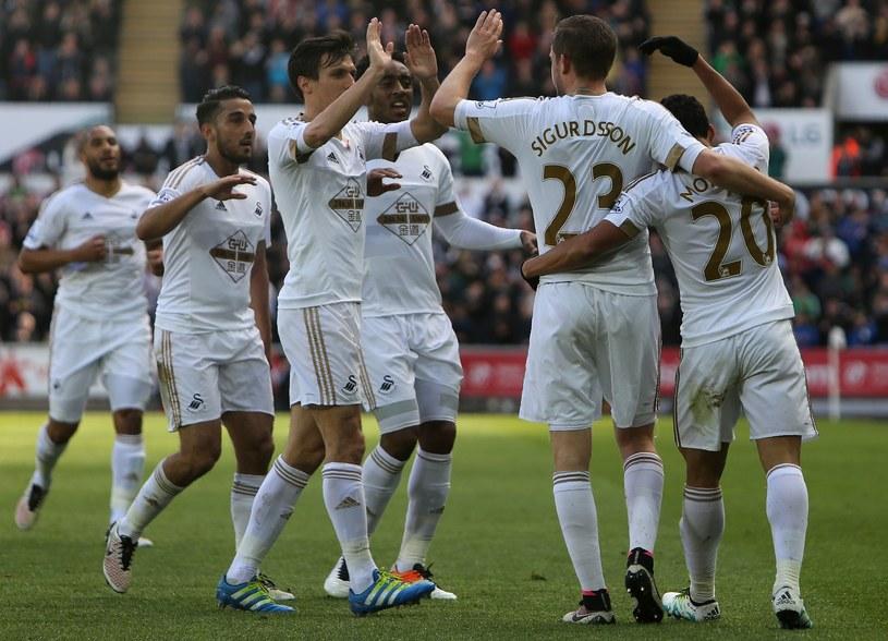 Tak Swansea cieszy się z bramki przeciwko Chelsea /AFP