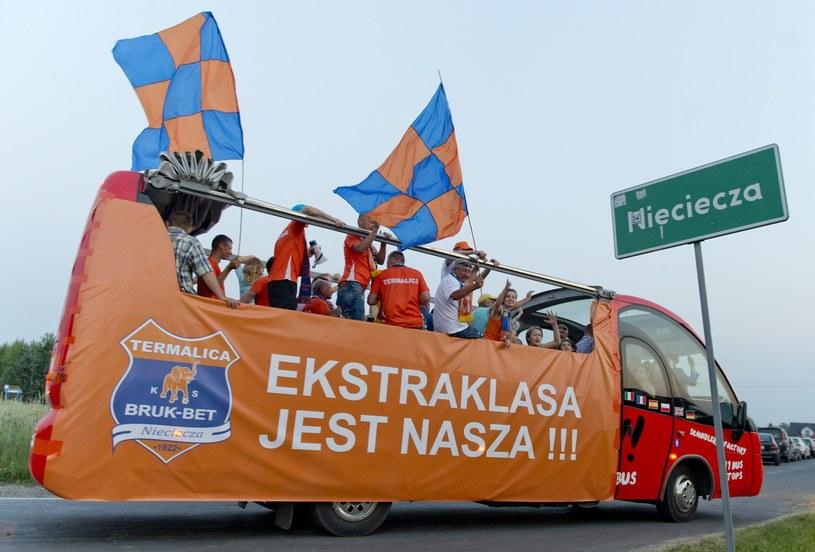 Tak świętowano w Niecieczy awans do Ekstraklasy /Piotr Tracz /Reporter