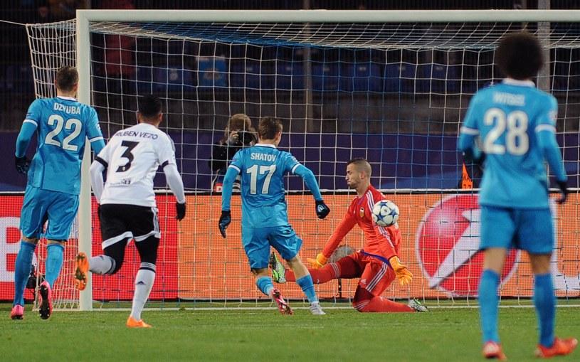 Tak Szatow strzelił gola Valencii /AFP