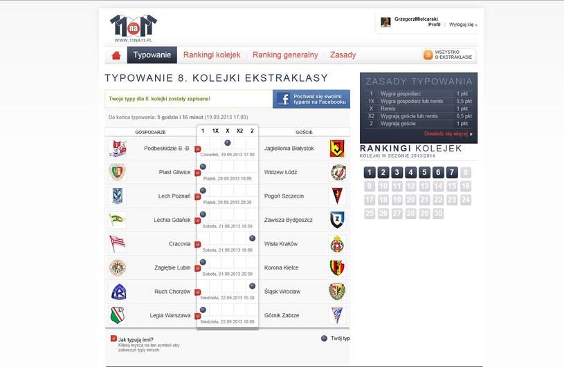 Tak typuje mecze 8. kolejki Grzegorz Mielcarski z Canal+ /INTERIA.PL