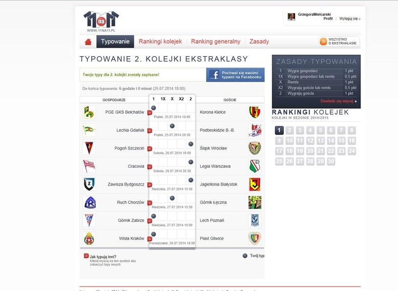 Tak typuje wyniki 2. kolejki Ekstraklasy Grzegorz Mielcarski /INTERIA.PL