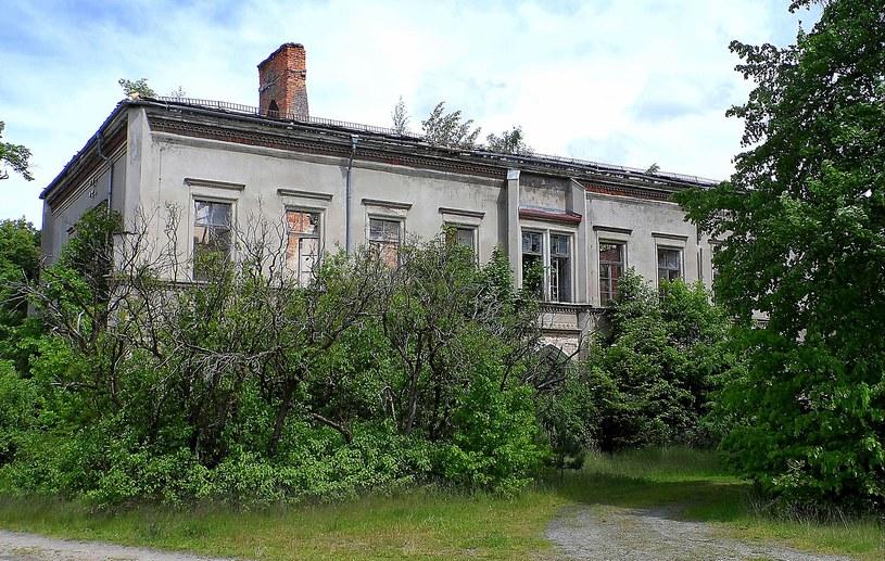 Tak w listopadzie 1996 roku prezentował się opuszczony pałac w Schwepnitz. fot. Leszek Adamczewski /
