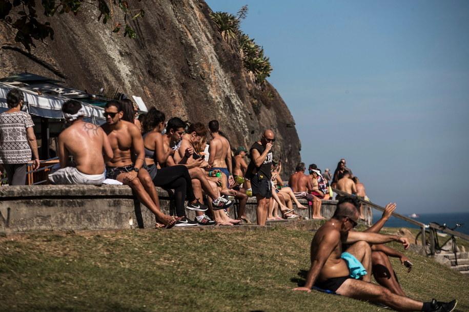 Tak w ten weekend wyglądały plaże w Rio /Antonio Lacerda /PAP/EPA