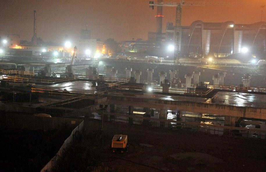 Tak wygląda budowa dworca Łódź Fabryczna /Agnieszka Wyderka /RMF FM