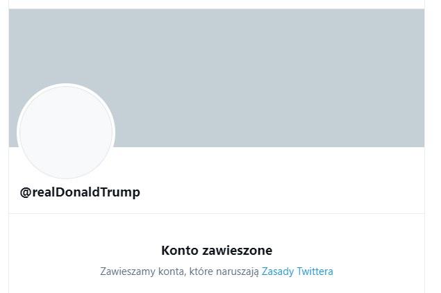 Tak wygląda dziś prywatne konto Donalda Trumpa /Twitter