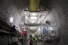 Tak wygląda fragment tunelu pod Martwą Wisłą