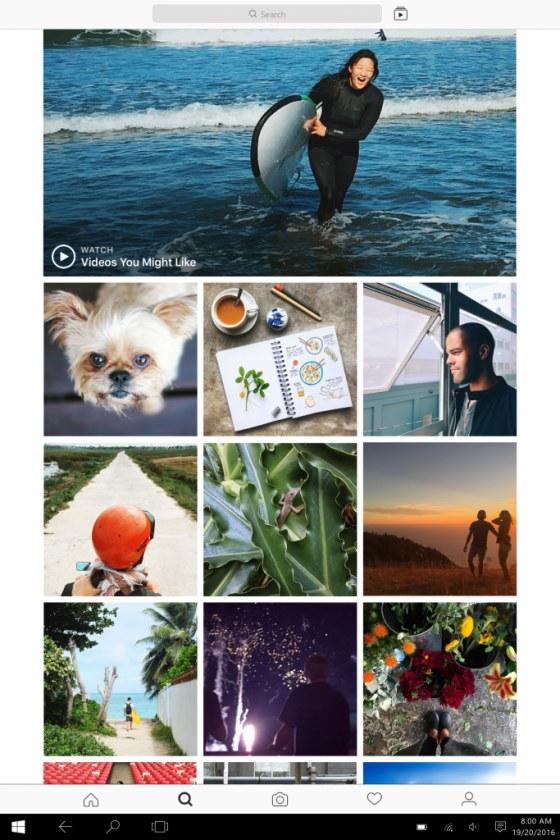 Tak wygląda Instagram w wersji dla Windows 10 /materiały prasowe