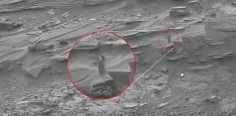 Tak wygląda krążące po internecie zdjęcie. Iluzja optyczna? Efekt stworzony przy pomocy edytora graficznego? NASA obiecała, że przyjrzy się zdjęciu /materiały prasowe
