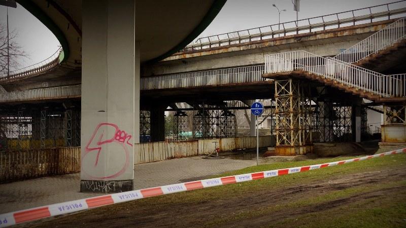 Tak wygląda Most Łazienkowski po pożarze /Michał Dukaczewski /RMF FM