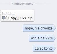 Tak wygląda przykładowa treść wirusa. Źródło: Niebiezpiecznik.pl/XsomX /instalki.pl