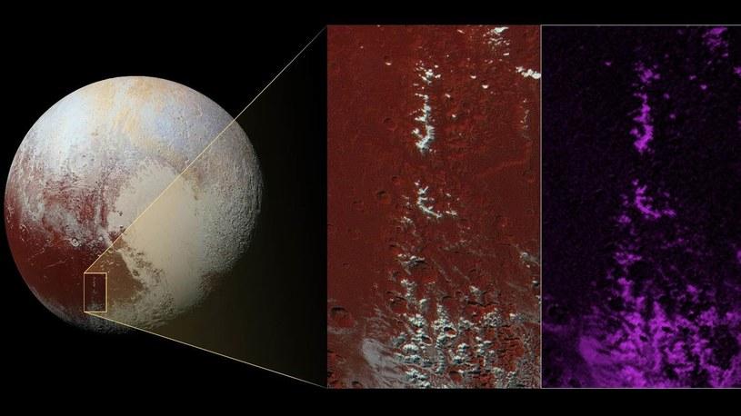 Tak wygląda śnieg na Plutonie /NASA