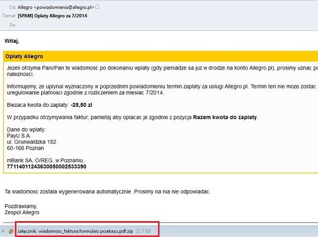 Tak wygląda treść fałszywej wiadomości. /instalki.pl