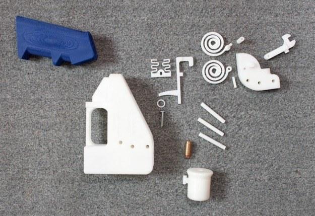 Tak wygląda wydrukowana broń przed złożeniem /materiały prasowe