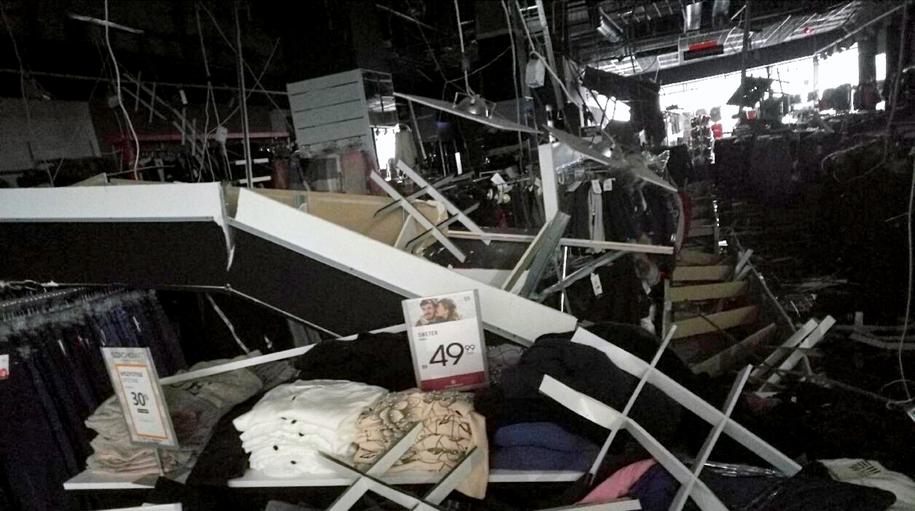 Tak wygląda zrujnowane wnętrze sklepu /PSP