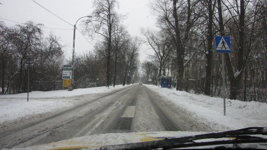Tak wyglądają dziś drogi w Małopolsce /Józef Polewka /RMF FM