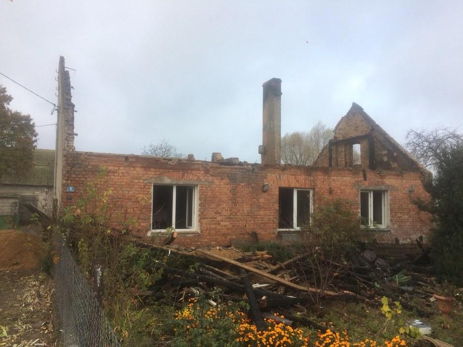 Tak wyglądają ruiny domu rodziny z Wydartowa /Mateusz Chłystun /RMF FM