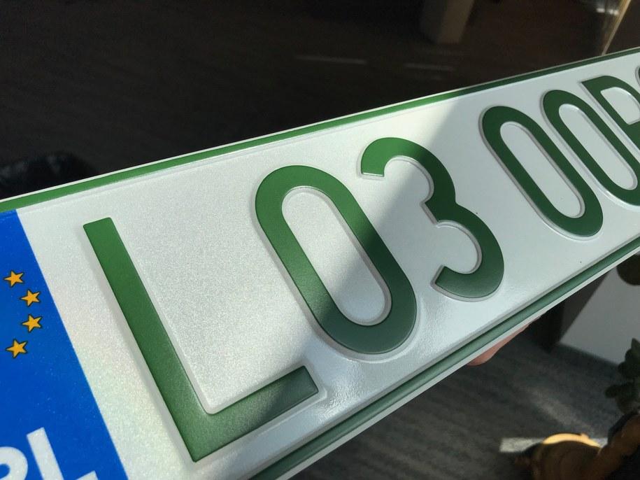 Tak wyglądają zielone tablice rejestracyjne /Krzysztof Kot /RMF FM