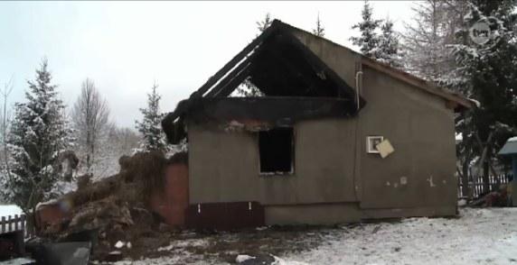 Tak wyglądał dom dzieci po pożarze /TVN24/x-news