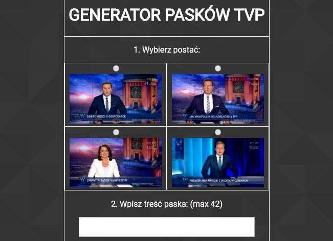 """Tak wyglądał """"Generator pasków"""" /materiały prasowe"""
