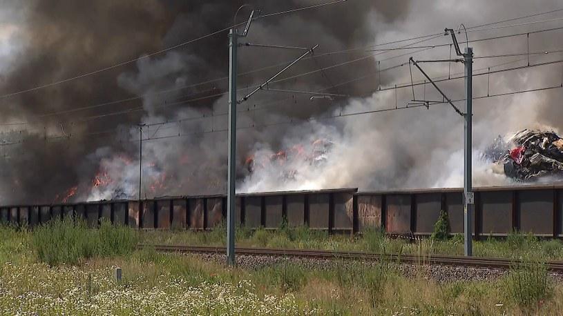 Tak wyglądał poprzedni pożar w Przysiece Dolnej. W piątek to samo składowisko śmieci zapłonęło ponownie /Polsat /Polsat News