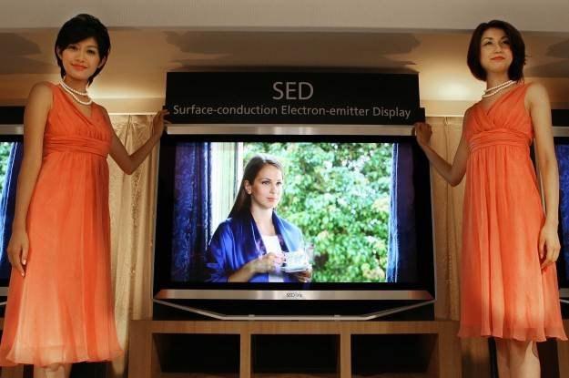 Tak wyglądał prototyp telewizora SED kilka lat temu. Nowej wersji nie raczej nie będzie /AFP
