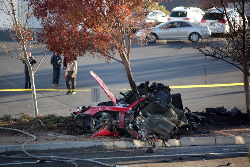 Tak wyglądał samochód Paula Walkera po tragicznym wypadku aktora /Splashnews /East News