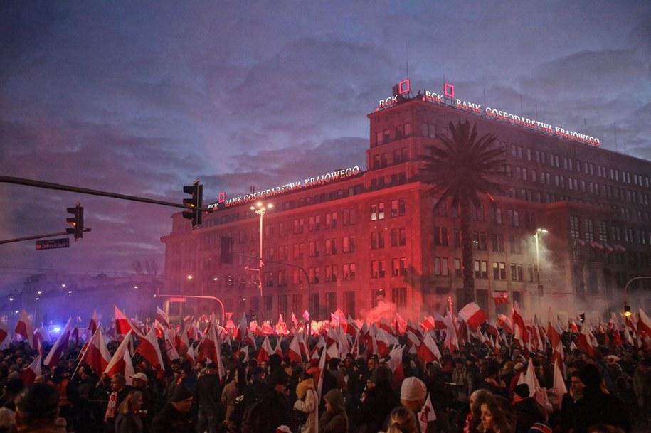 Tak wyglądał ubiegłoroczny Marsz Niepodległości w Warszawie /Mateusz Marek /PAP