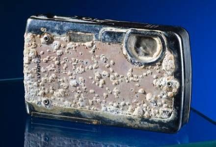 Tak wyglądał zagubiony aparat po roku na dnie morza /materiały prasowe