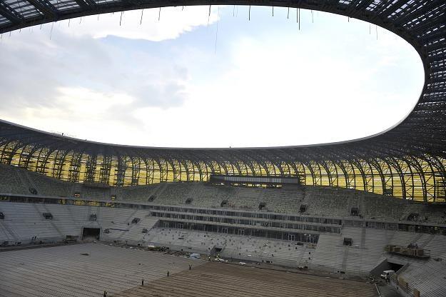 Tak wyglądała budowa stadionu PGE Arena Gdańsk 20 maja 2011 r. fot: Adam Warżawa /PAP
