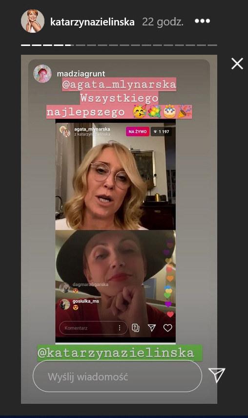 Tak wyglądała impreza Agaty Młynarskiej /Instagram