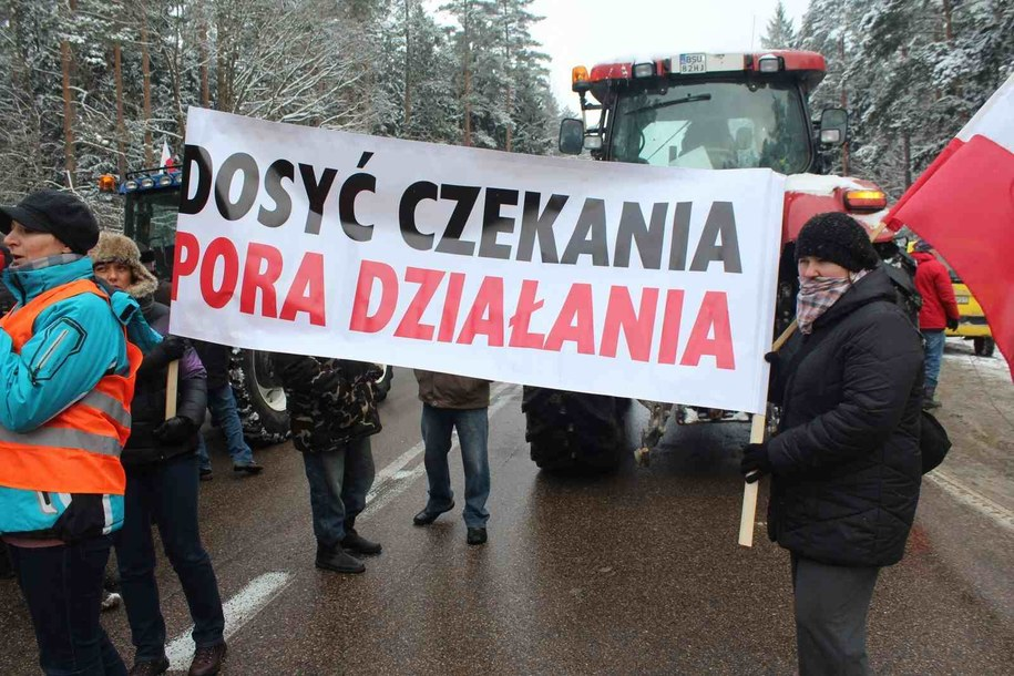 Tak wyglądała ostatnia akcja protestacyjna rolników /Piotr Bułakowski /RMF FM