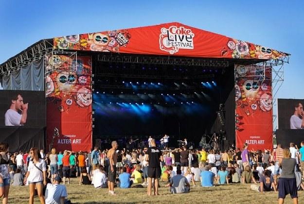 Tak wyglądała scena Coke Live Music Festival 2009 /INTERIA.PL