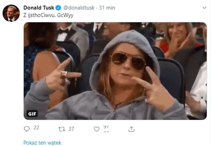 Tak wyglądało w środę konto Donalda Tuska /Twitter