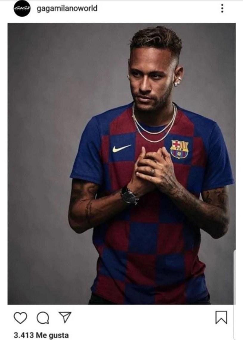 Tak wyglądało zdjęcie z Neymarem, które szybko skasowano z profilu marki /Instagram/@gagamilanoworld /