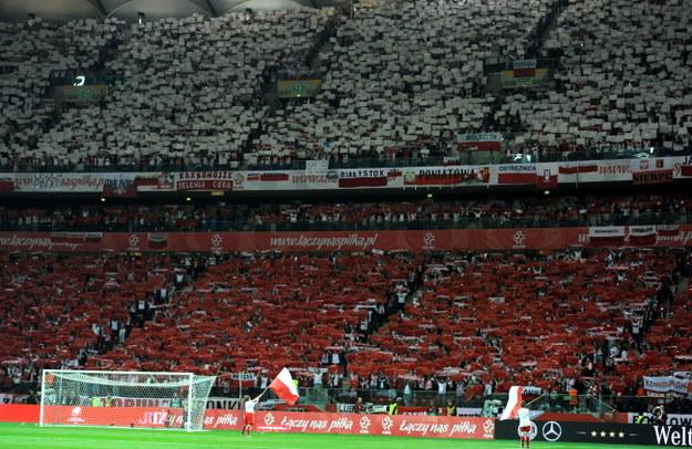 Tak wyglądały trybuny podczas sobotniego meczu Polska-Niemcy /Bartłomiej Zborowski /PAP