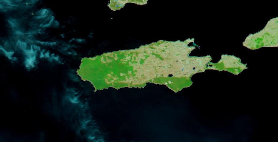 Tak Wyspa Kangura wyglądała jeszcze 16 grudnia 2019 roku /NASA WORLDVIEW /Materiały prasowe