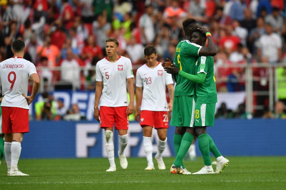 Tak z wygranej z Polską cieszyli się senegalscy piłkarze /Bartłomiej  Zborowski /PAP