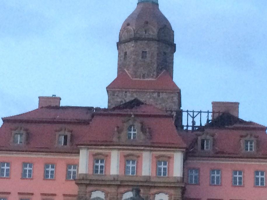 Tak zamek wygląd o poranku /Bartek Paulus /RMF FM