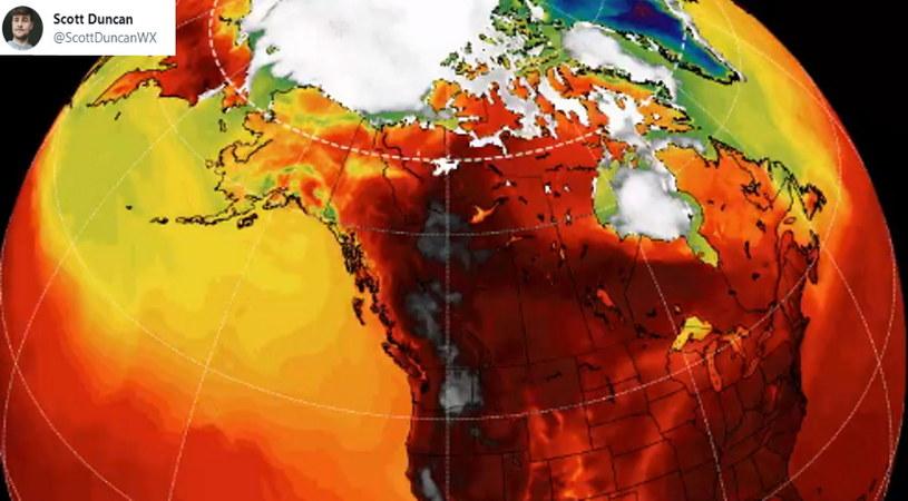 Taka fala ciepła zdarza się raz na 1000 lat. Upały w północno-zachodniej części USA są tak ogromne, że w wielu miejscach w regionie sytuacja jest wręcz krytyczna /Twitter