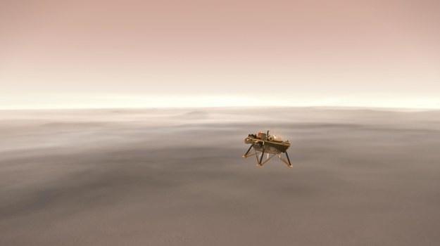 Taka ma wyglądać hamowanie z pomocą silników rakietowych /NASA/JPL-Caltech /Materiały prasowe