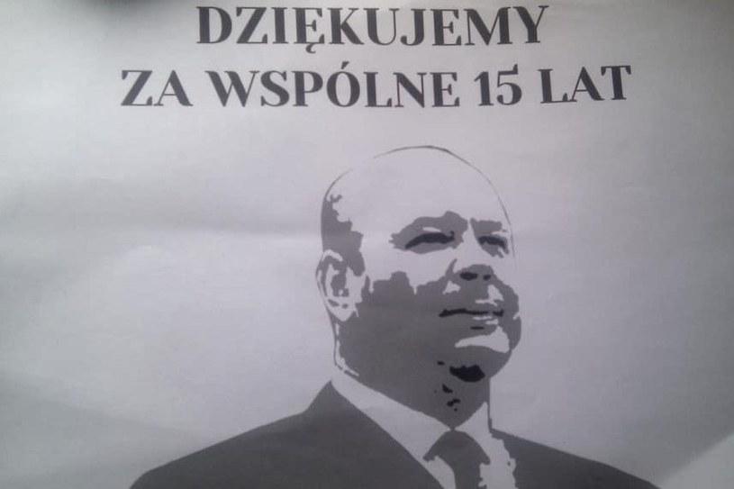 Taką sektorówkę chcieli wywiesić kibice na meczu ze Śląskiem, ale klub wydał zakaz na wszelkie sektorówki. /INTERIA.PL