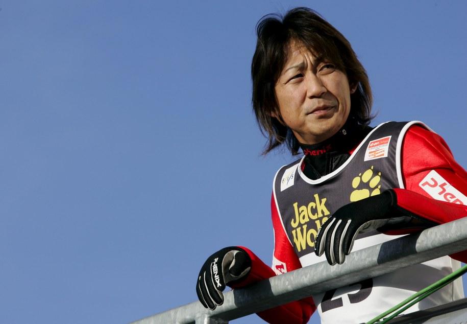 Takanobu Okabe w niemieckim Oberstdorfie w grudniu 2006 roku /Matthias Schrader/DPA /PAP