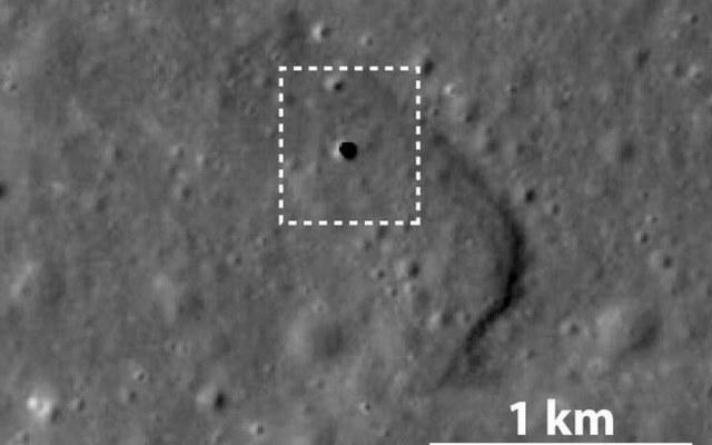Taki tunel odkryto na Księżycu /materiały prasowe