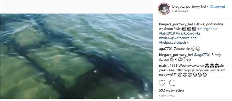 Taki widok na dnie Bałtyku odsłonił sztorm /instagram/biegacz.portowy.hel /