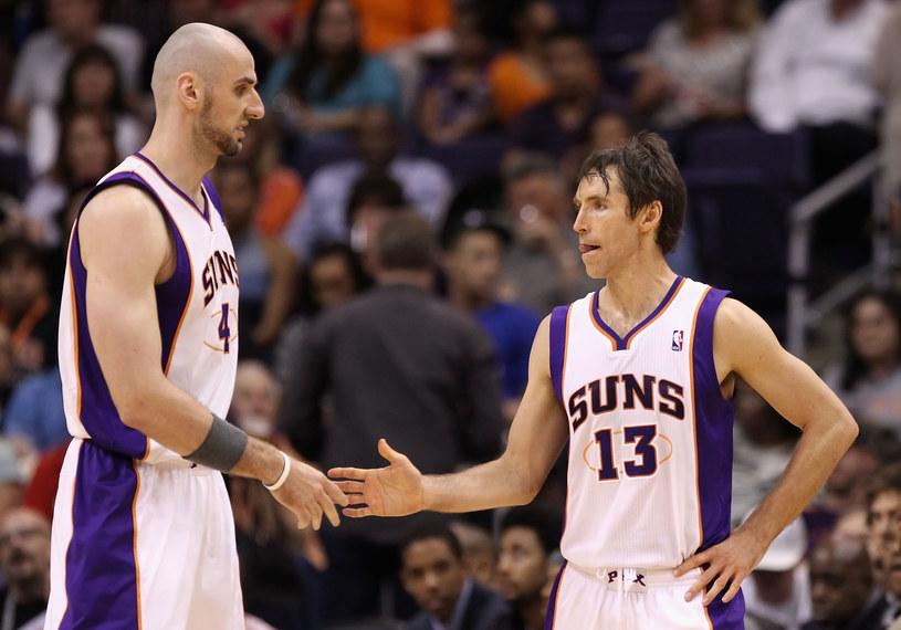 Takich obrazków już nie zobaczmy - Marcin Gortat (z lewej) i Steve Nash w barwach Phoenix Suns /Christian Petersen /Getty Images